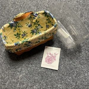 Longaberger basket with floral fabric insert